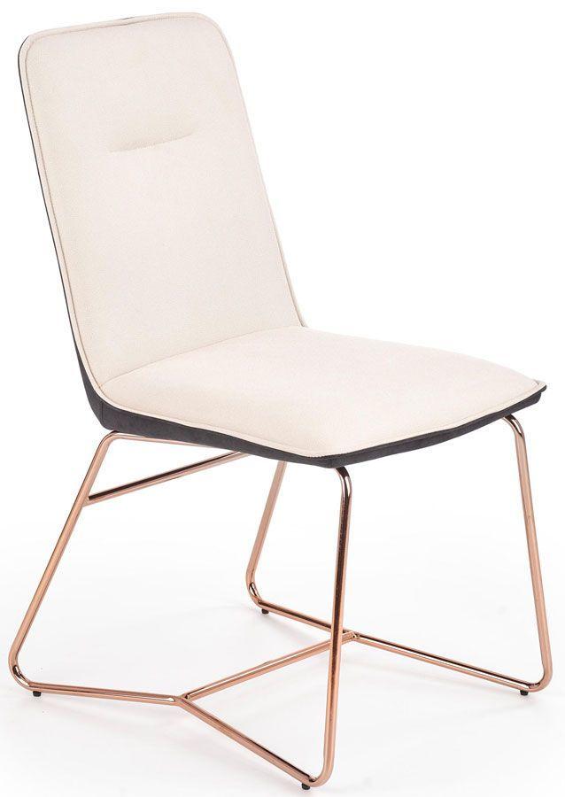 Krzesło w stylu glamour Malibu - kremowy + popielaty