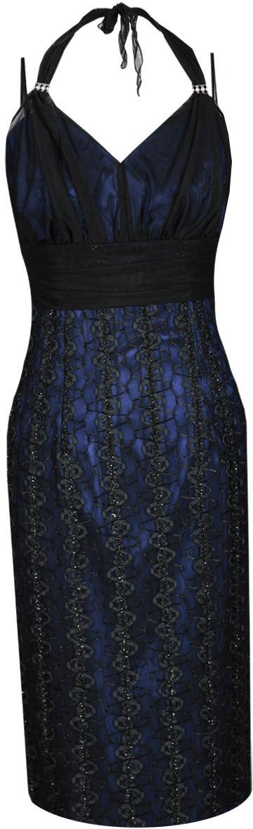 Sukienka FSU169 CZARNY + CHABROWY CIEMNY