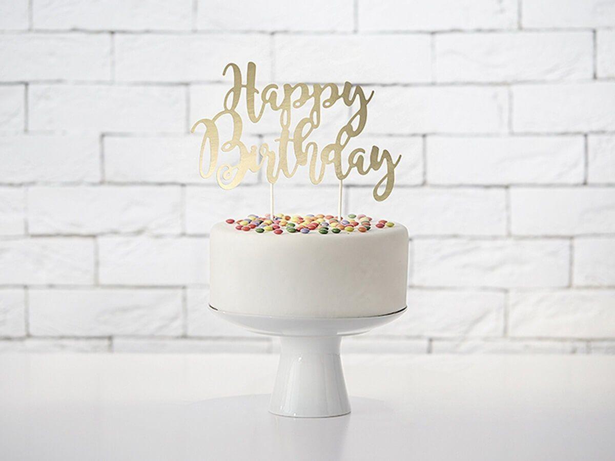 Topper na tort Happy Birthday - 22,5 cm