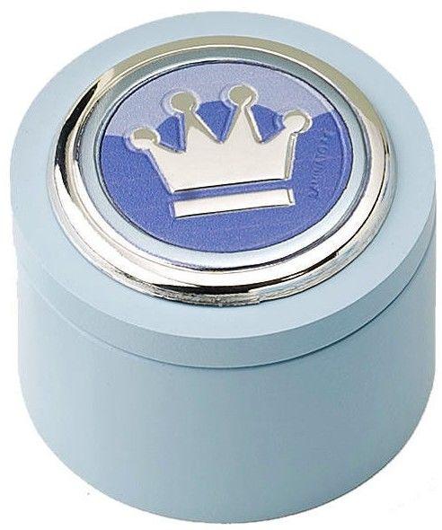 Pudełeczko na pierwszy ząbek Rozmiar: Fi 5 cm H3.5 cm Kolor: Niebieski SKU: CM271606