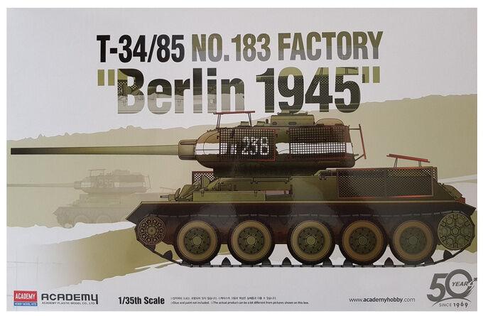 Czołg T34/85 Berlin 1945 model do sklejania Academy