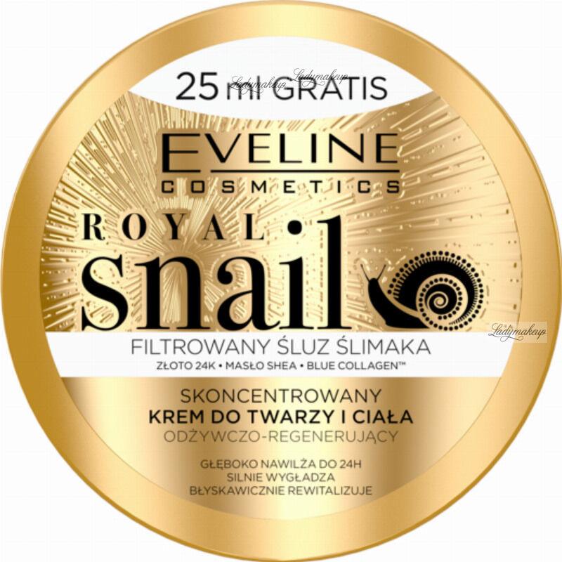 Eveline Cosmetics - ROYAL SNAIL - Skoncentrowany krem do twarzy i ciała ze śluzem ślimaka - 200 ml