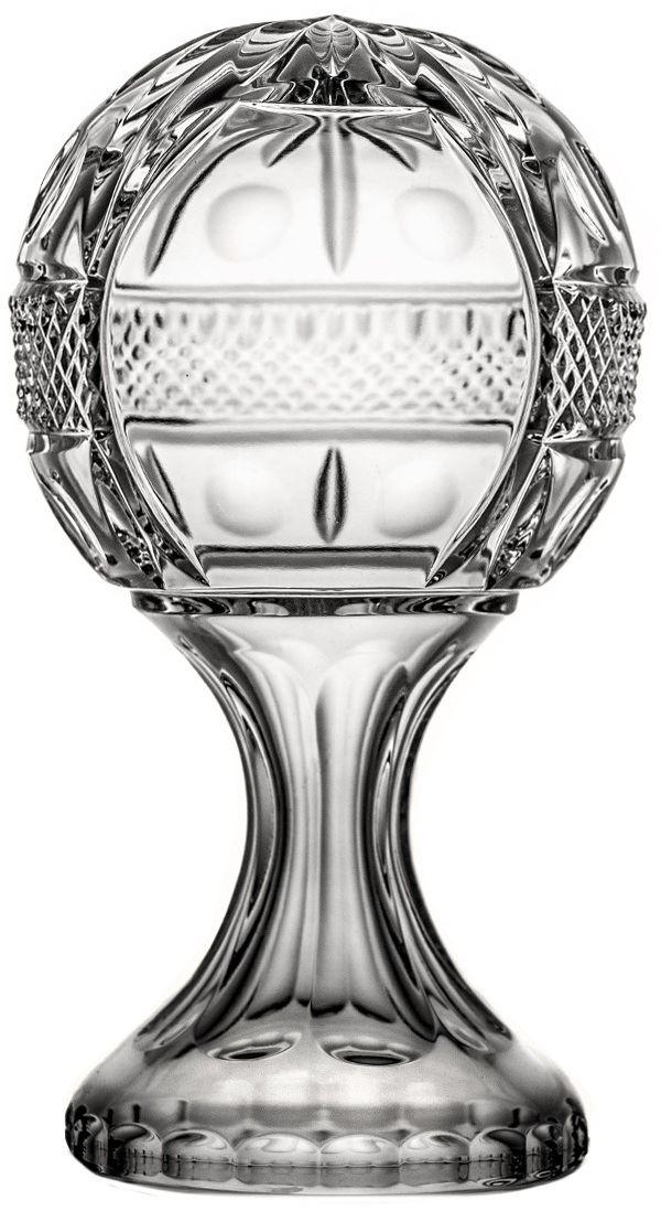Puchar kula kryształowy na nodze 20 cm 6602