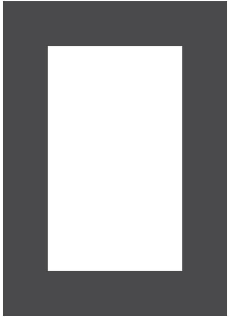 Passe-partout 172 czarne 15 x 21 cm