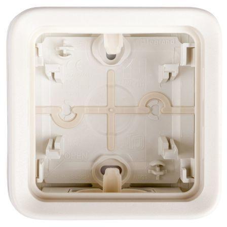 PLEXO55 Puszka natynkowa pojedyncza biała 069689