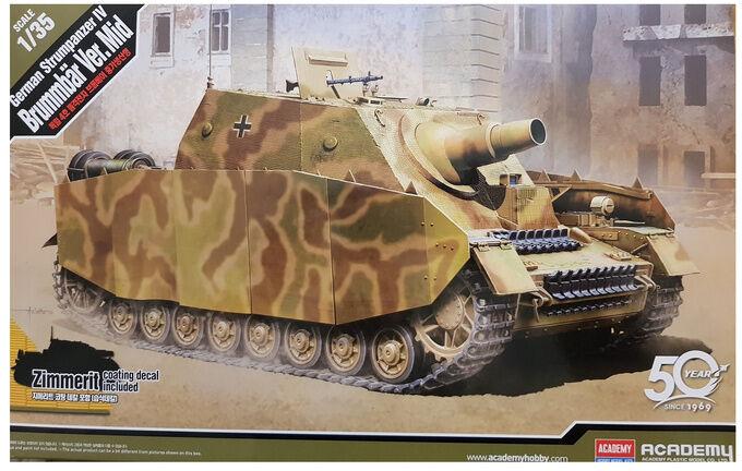 Czołg Strumpanzer IV Brummbar model do sklejania Academy