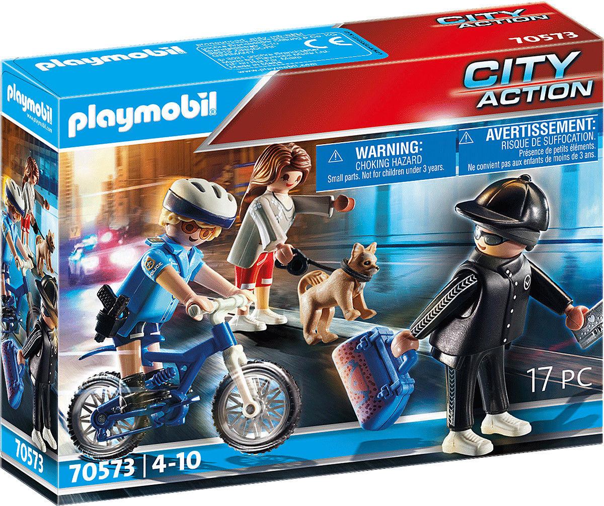 Playmobil - Pościg rowerem policyjnym 70573