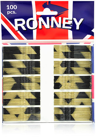Ronney Profesjonalne wsuwki do włosów Długie, złoto-czarne 100 szt.
