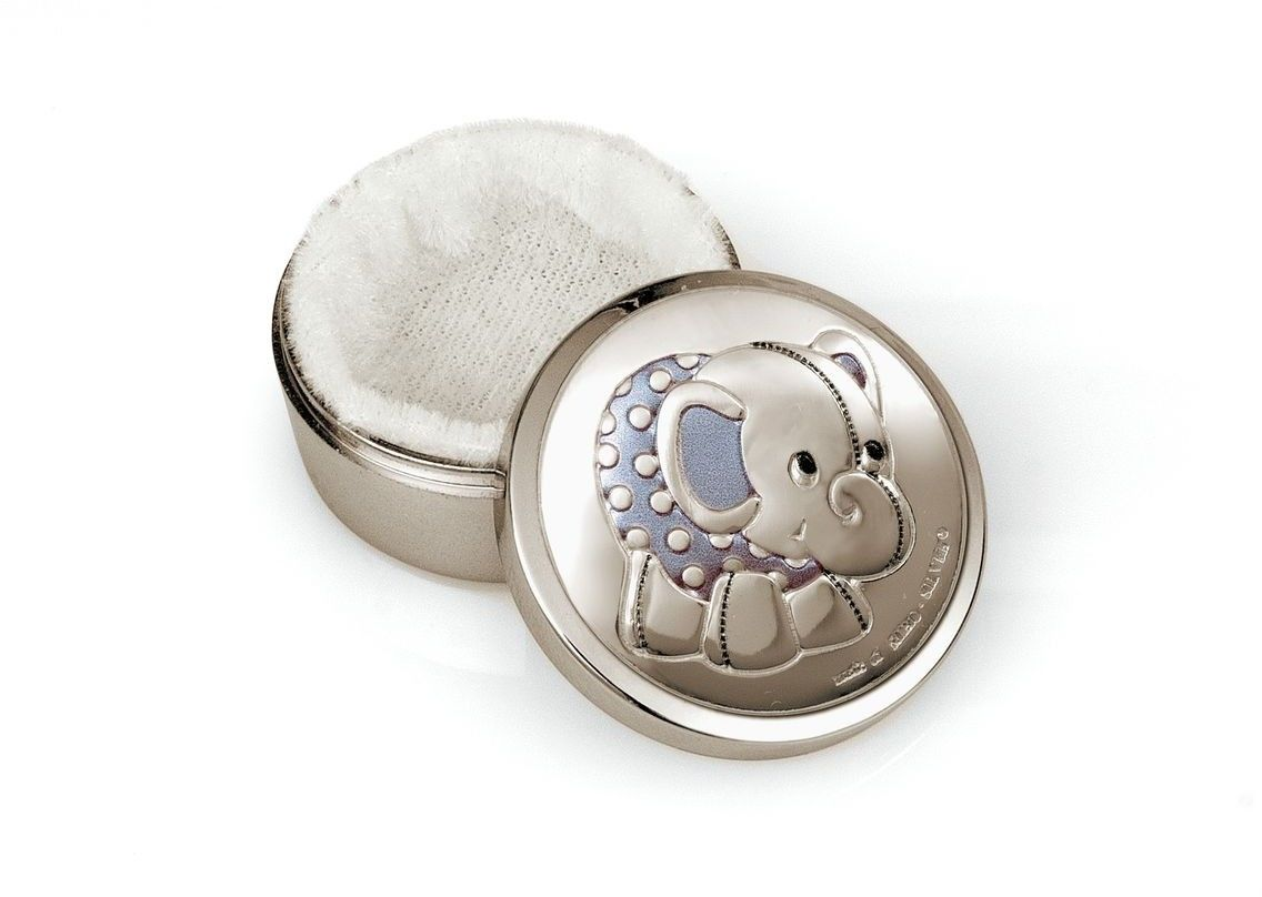 Pudełeczko na pierwszy ząbek Rozmiar: Fi 4 cm Kolor: Niebieski SKU: BC3728C