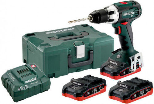Metabo BS 18 LT Set Wiertarko-wkrętarka akumulatorowa 3x18V/3.5Ah LiHD; Ładowarka ASC 30-36 V;
