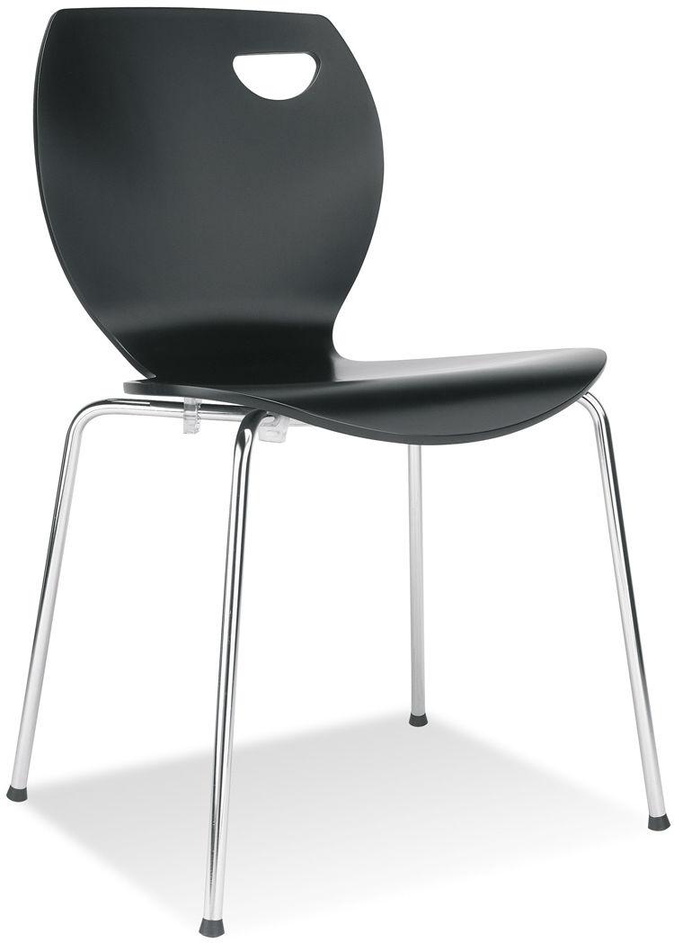 NOWY STYL Krzesło CAFE IV alu/black