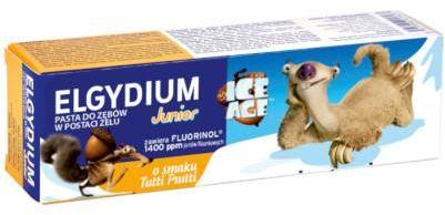 Elgydium Junior ICE AGE pasta do zębów dla dzieci 7-12 lat o smaku tutti frutti 50 ml