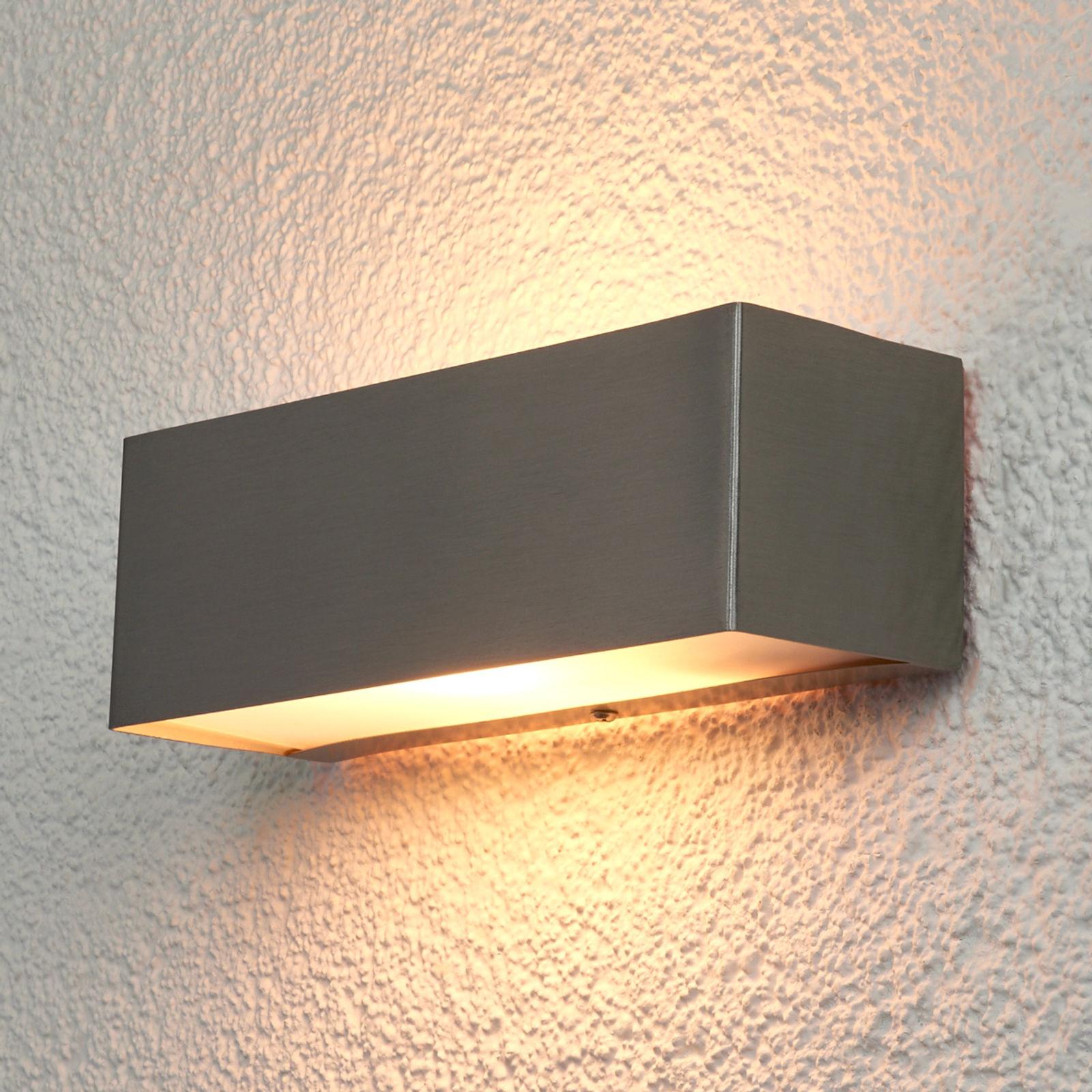 Prostokątna lampa ścienna Alicja na zewnątrz