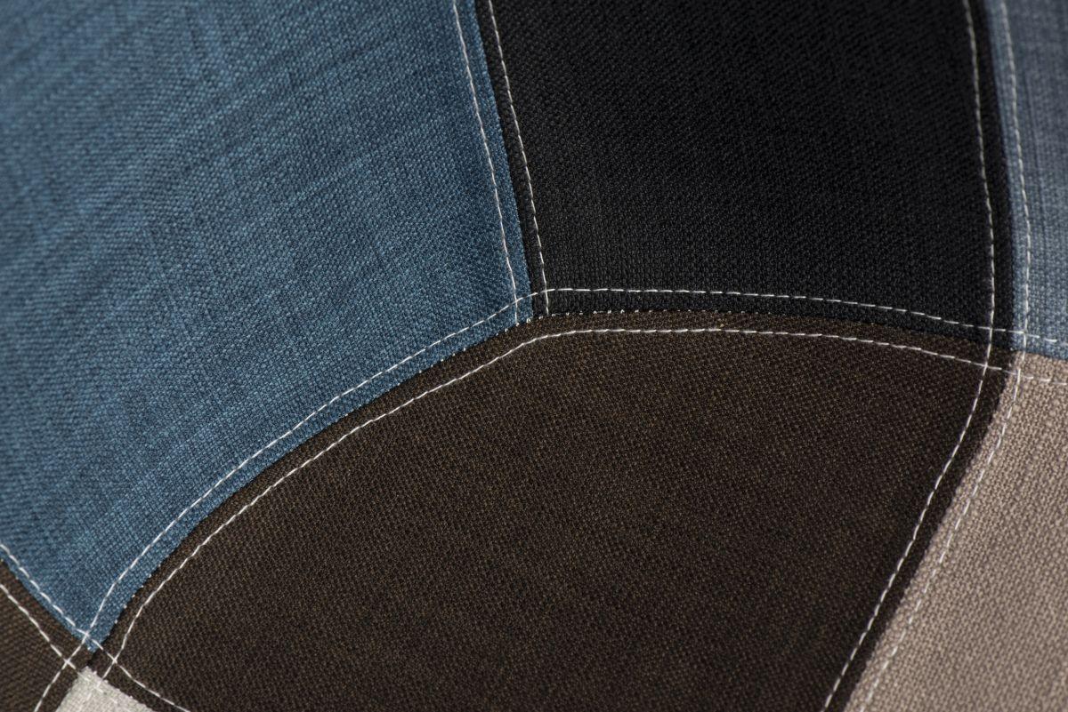 D2 Krzesło P018W patchwork niebiesko-szary podstawa DAW