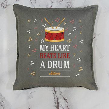 My heart beats like a drum - Poduszka dekoracyjna