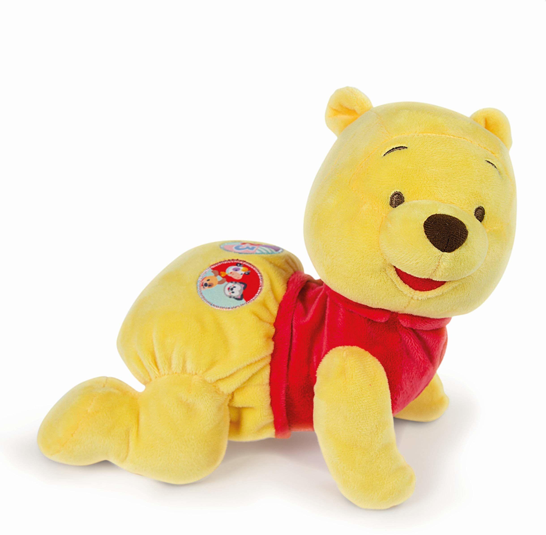 Clementoni 17306 17260 Disney Baby  Kubuś Puchatek z Mir, przytulna zabawka edukacyjna dla niemowląt i małych dzieci, pluszowe zwierzątko do rozwoju motoryki, wspieranie rozwoju, wielokolorowa