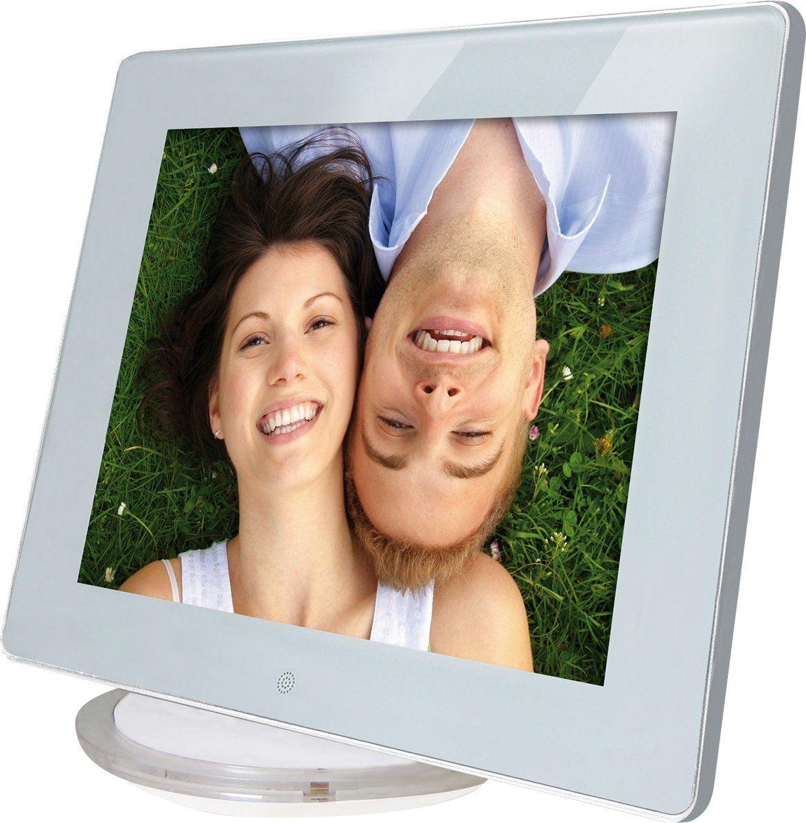 Rollei Designline cyfrowa ramka na zdjęcia (20,32 cm (8 cali), wbudowane głośniki stereo, stacja dokująca) biała