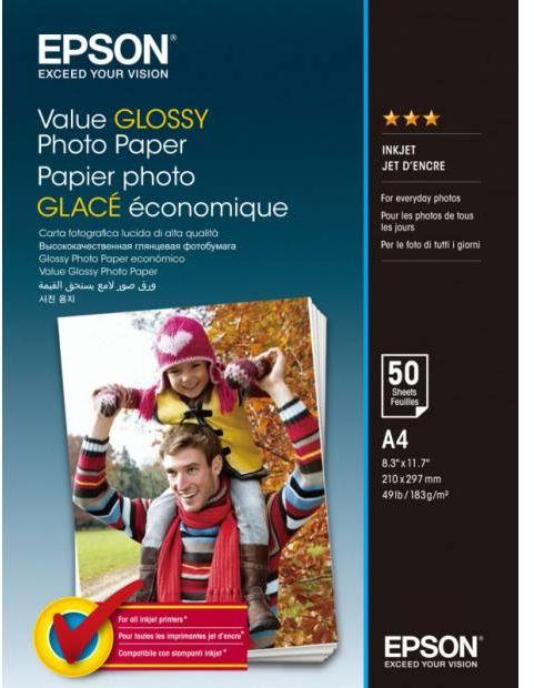 Papier fotograficzny Epson Value Glossy Photo Paper 183 g/m2 - A4, 50 arkuszy (C13S400036)