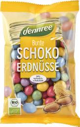 Orzeszki ziemne oblane mleczną czekoladą w chrupiących kolorowych skorupkach bio 100 g - dennree