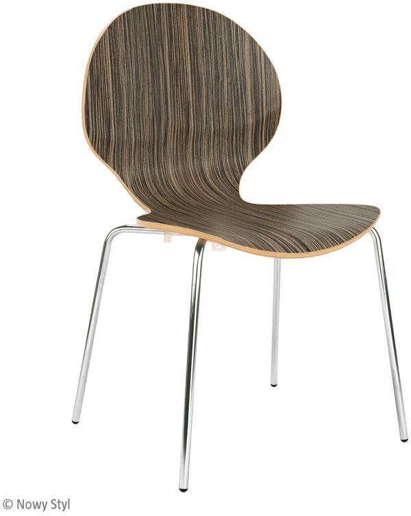 NOWY STYL Krzesło CAFE VI alu/black/chrom