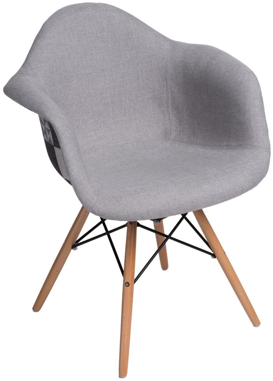 D2 Krzesło P018W Pattern szare/patchwork