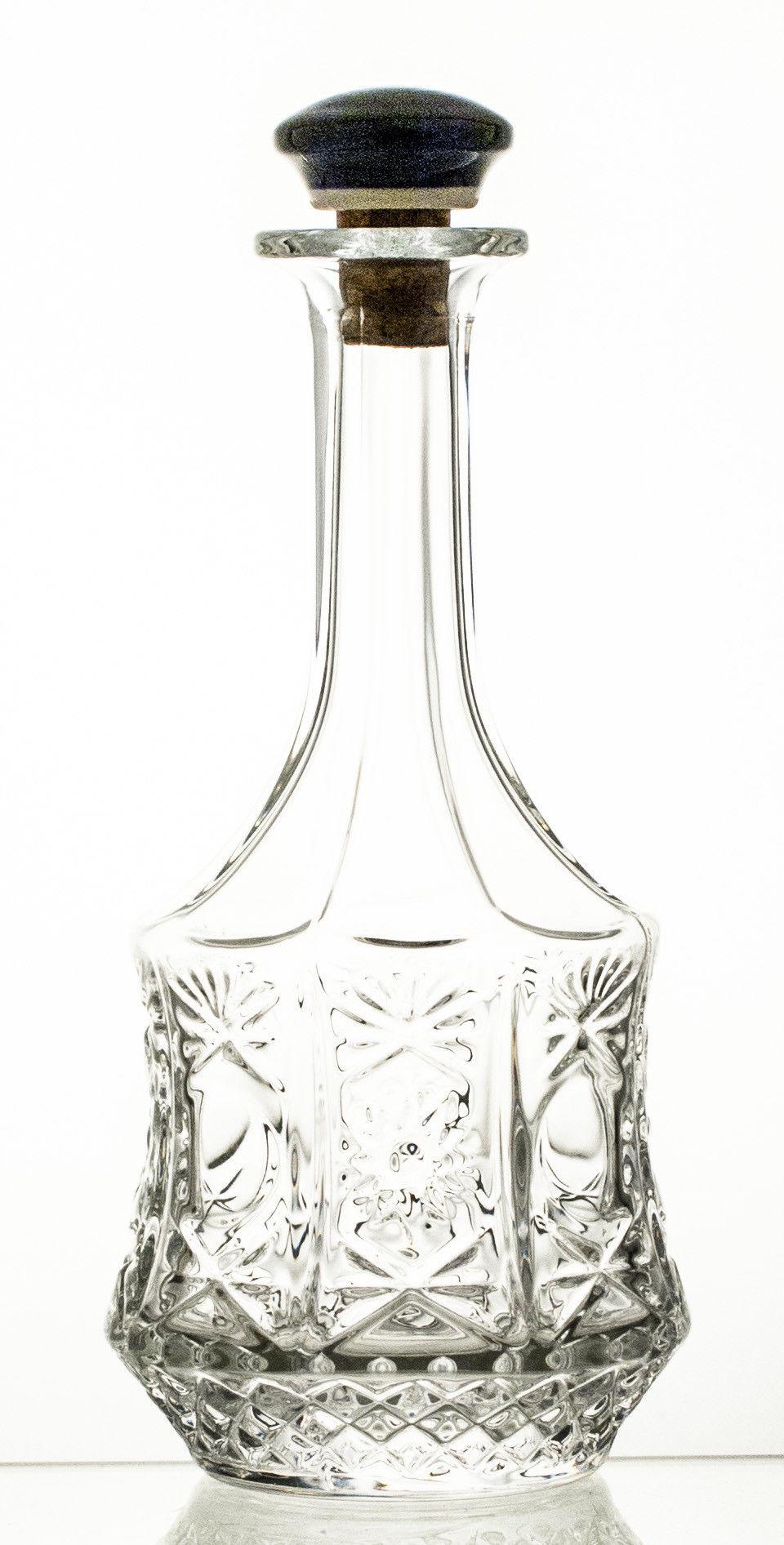 Karafka do wina kryształowa korek ceramiczny (13357)