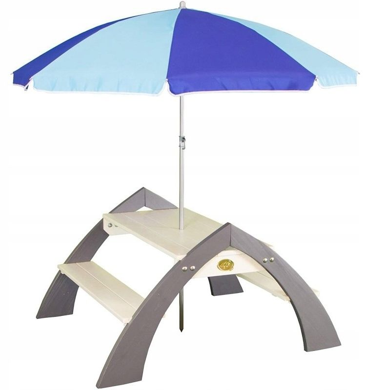 AXI Drewniany Wielofunkcyjny Zestaw Stół + Ławeczki + Parasol