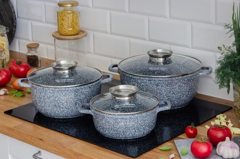 Zestaw 3 garnków granitowo-ceramicznych Edenberg