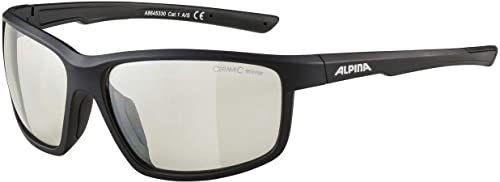 ALPINA Unisex - Dorośli, DEFEY Okulary sportowe, black matt/clear, One Size