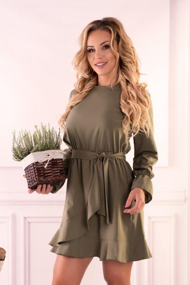 Manetera Khaki sukienka