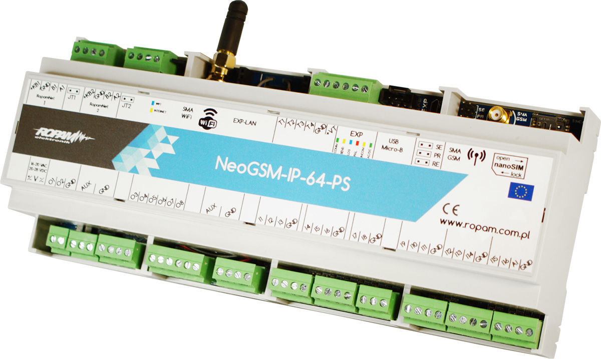 Centrala alarmowa Ropam NeoGSM-IP-64-PS-D12M