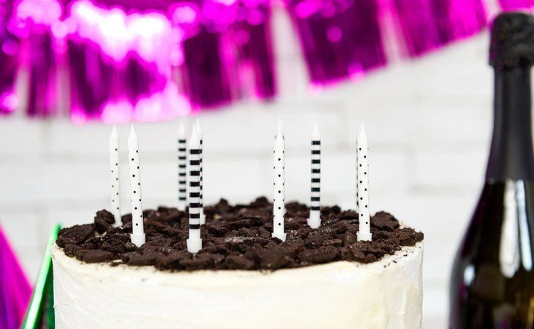 Świeczki urodzinowe w kropki i paski 6szt SCP-2
