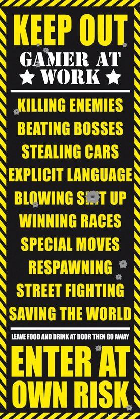 Zakaz wstępu - pokój gracza - wersja dla dorosłych - plakat