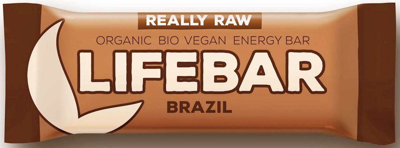 Baton z orzechami brazylijskimi raw bezglutenowy bio 47 g - lifefood