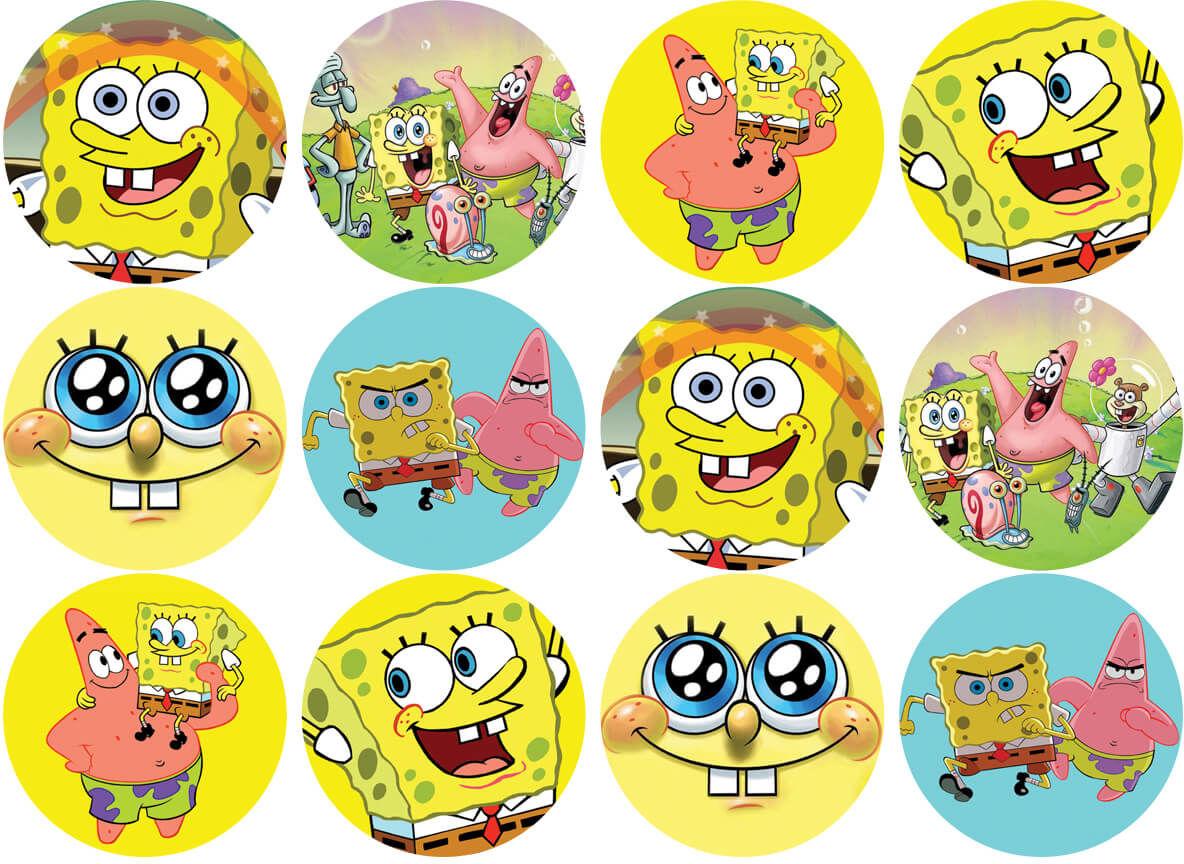 Opłatki na muffiny babeczki Spongebob
