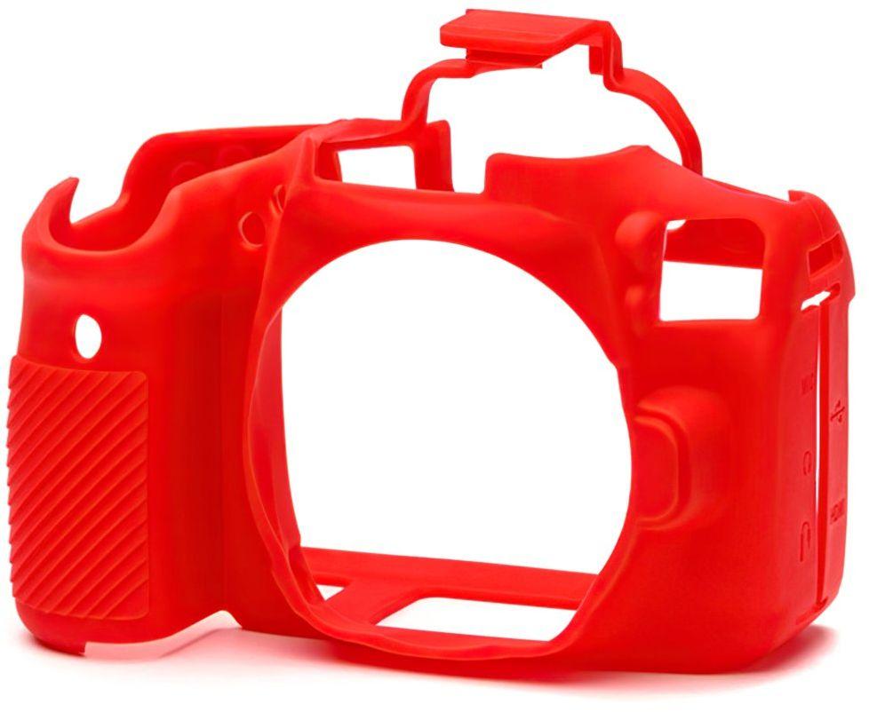 Osłona silikonowa easyCover do aparatów Canon EOS 90D czerwona