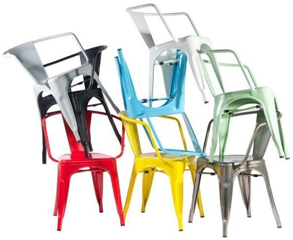 D2 Krzesło Paris Arms białe inspirowane Tol ix