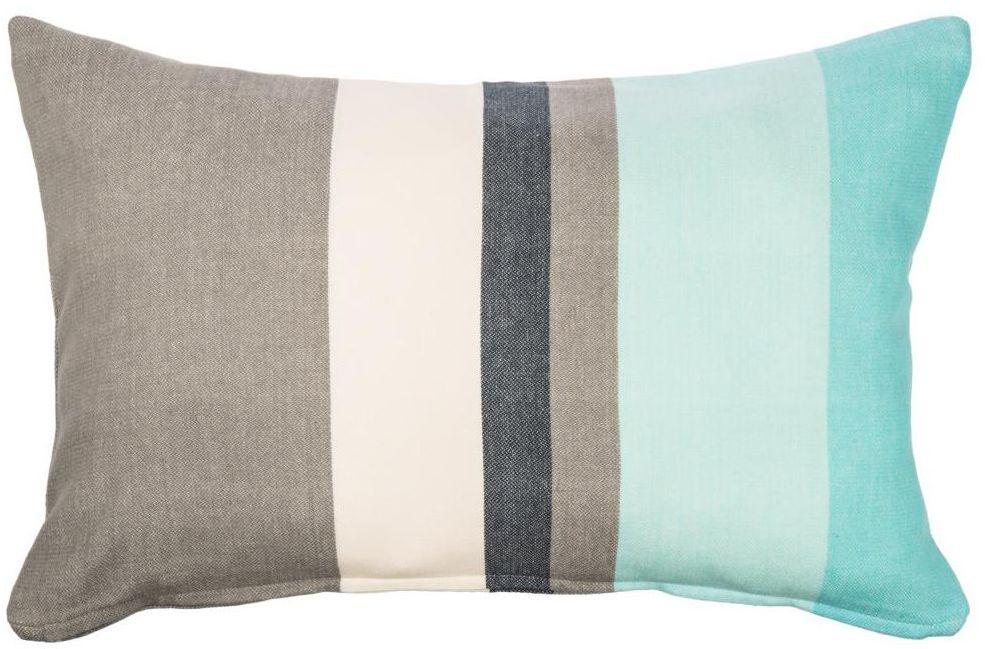 Poduszka Stripe turkusowa 60 x 40 cm Inspire