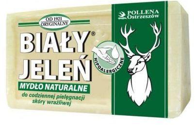 Mydło w kostce hipoalergiczne naturalne 150 g, BIAŁY JELEŃ