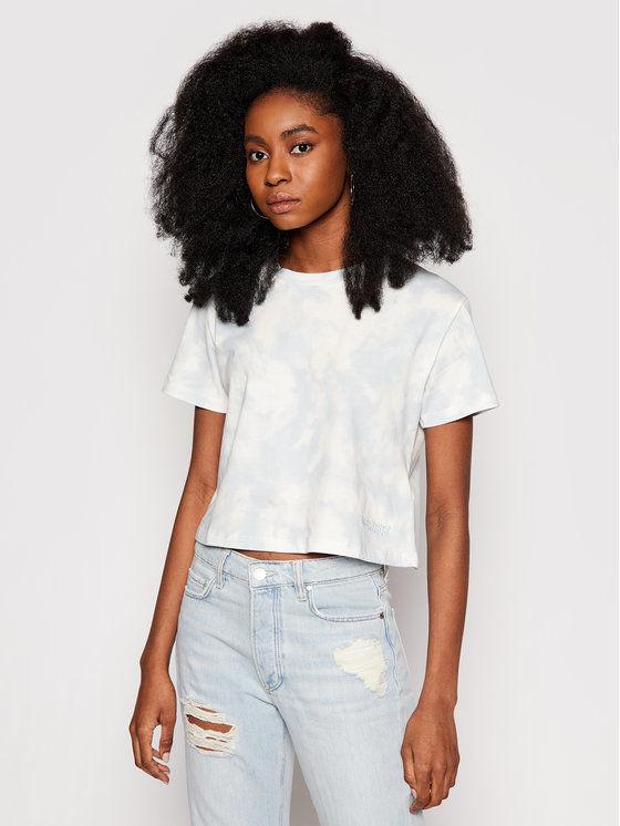 Guess T-Shirt Marble O1GA37 I3Z00 Niebieski Regular Fit