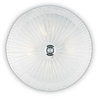 Plafon Shell PL6 008622 Ideal Lux transparentna oprawa ze szkła