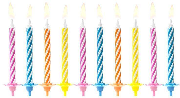 Świeczki urodzinowe kolorowe 10szt SCP-7
