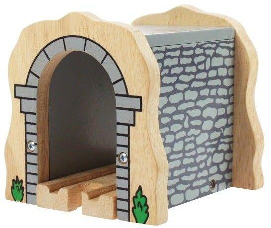Tunel kolejowy szary do kolejek drewnianych