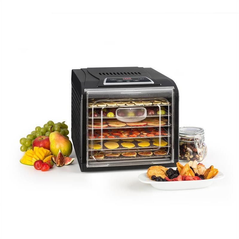 Klarstein Fruit Jerky Plus 6suszarka do owoców i warzyw timer 6 poziomów czarna