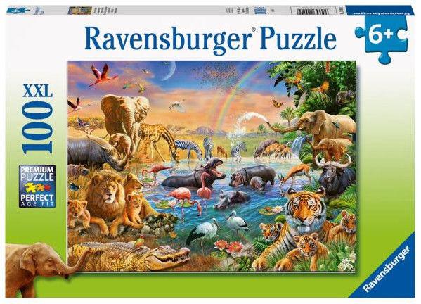 Ravensburger - Puzzle Jeziorko w dżungli 100 elem. 129102
