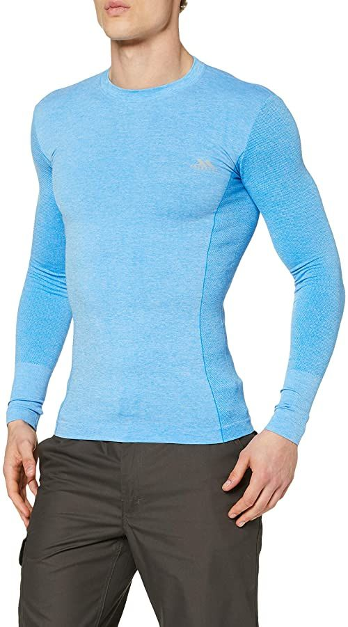 Trespass Męska koszulka Tp75 Timo Active Bright Blue Marl XXS