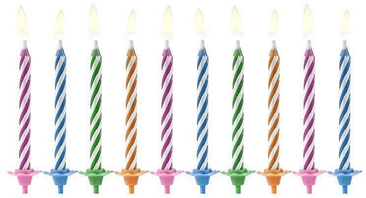 Świeczki urodzinowe magiczne niegasnące 10szt SCP-9
