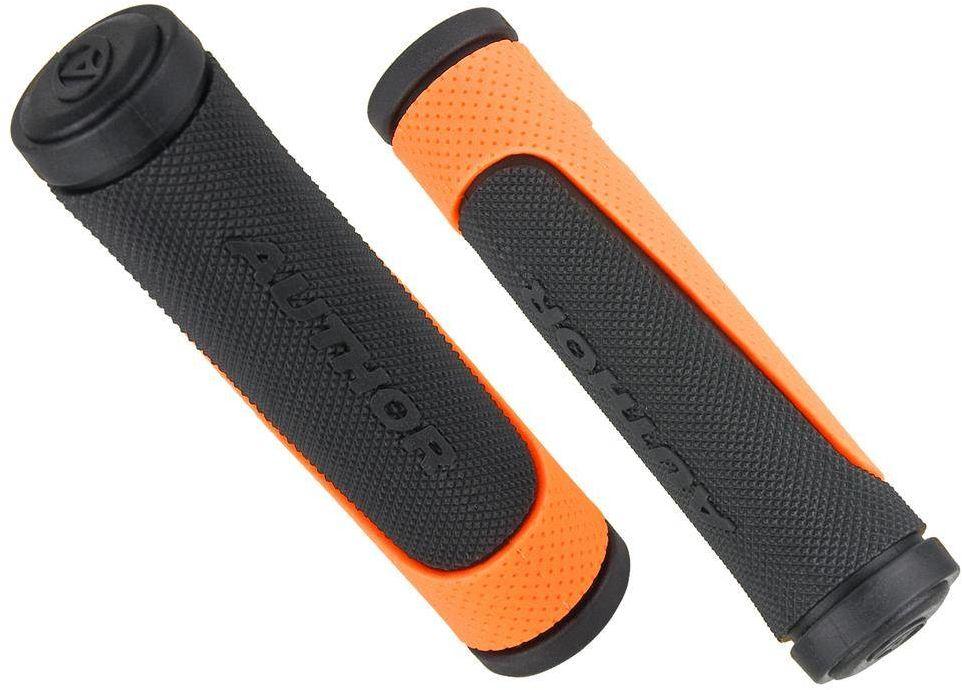 Chwyty kierownicy AUTHOR AGR-R600 125mm, nakładane, czarno-pomarańczowe