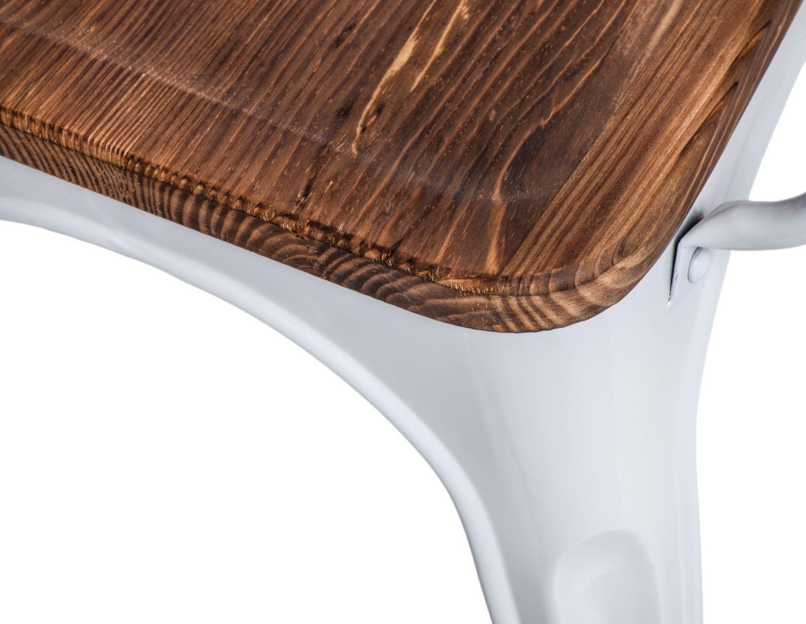D2 Krzesło Paris Arms Wood biały sosna