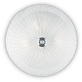 Plafon Shell PL4 008615 Ideal Lux transparentna oprawa ze szkła
